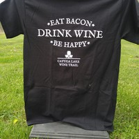 Eat Bacon, Drink Wine tshirt